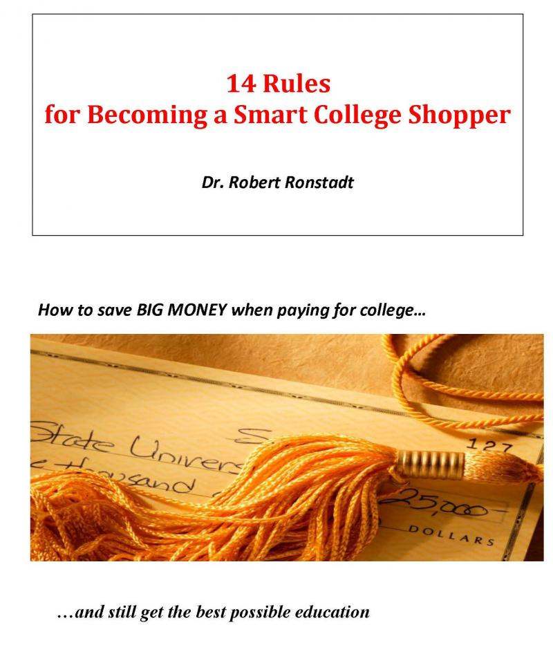Book #1:  14 Rules for Becoming a Smart College Shopper