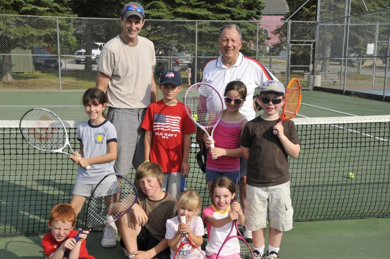 Bob with co-founder, Phil Eisenmann and one of our first classes in Belmont, NH